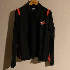 workout jacket black/orange L
